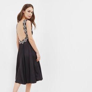 Ted Baker Jirina Embellished Backless Dress Black